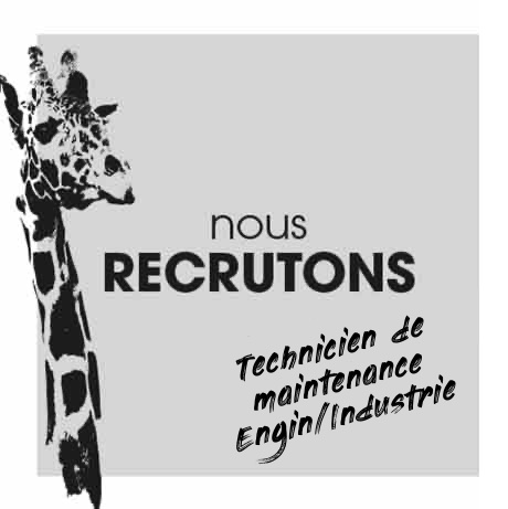 Nous recrutons un technicien en maintenance Engin/Industrie